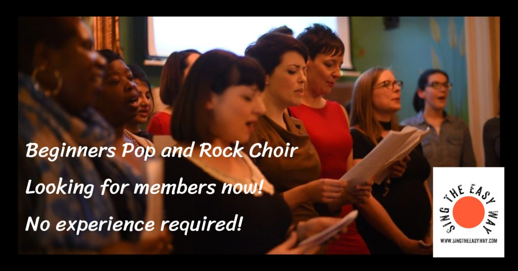 Pop choir, rock choir, beginners choir, london choir,